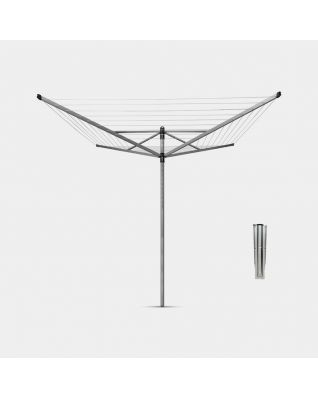 Wäschespinne Topspinner 50 Meter, mit Bodenanker, Ø 45 mm - Metallic Grey