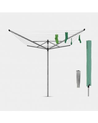 Rotary Dryer Lift-O-Matic 60 metre, with Ground Spike & Cover, Ø 45 mm - Metallic Grey