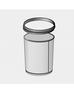Binnenemmer metaal met bovenrand, 5 liter - Galvanized