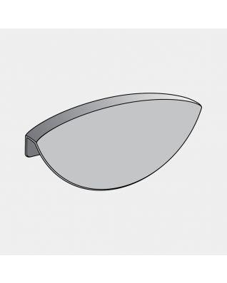 Poignée plastique pour poubelle Built-in, 2x18 litres - Grey