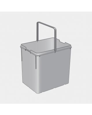 Cubo interior de plástico para separador integrado 2x18 litros - Grey