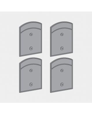 Kit de 4 fixations latérales pour poubelle Built-in, 2x18 litres - Grey