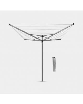 Wäschespinne Topspinner 60 Meter, mit Bodenanker, Ø 45 mm - Metallic Grey
