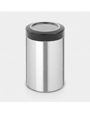 Window Lid Canister 1.4 litre - Matt Steel Fingerprint