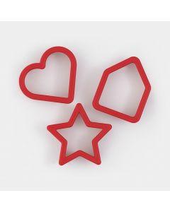 Stampini per Biscotti Set di 3 - Red