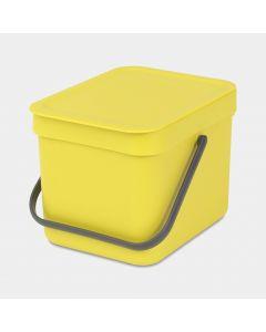 Sort & Go Abfallbehälter 6 Liter - Yellow