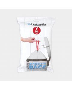 Sacchetti PerfectFit Per newIcon, Codice Y (20 litri), Confezione Dispenser, 40 Sacchetti
