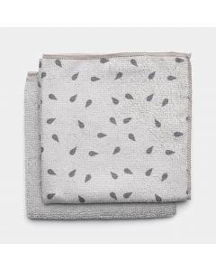 Chiffons de nettoyage en microfibre Set de 2 - Light Grey