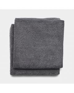 Microfibre Dish Cloths Set of 2 - Dark Grey
