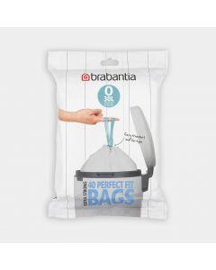 Sacs poubelle PerfectFit Pour Bo et FlatBack+, code O (30 litres), Distributeur, 40 sacs