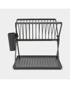 Foldable Dish Drying Rack Small - Dark Grey