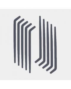 Tubi silicone scolapiatti piegh.,10 pz - Dark Grey