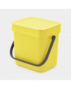 Sort & Go Abfallbehälter 3 Liter - Yellow