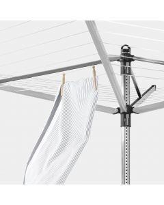 Séchoir Topspinner 60 mètres, avec ancre de sol, Ø 45 mm - Metallic Grey