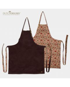Reversible Apron Purple vs Flower Field