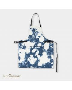 BBQ Style Apron Blue Stained