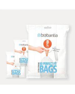 PerfectFit Bags Code B (5 litre), 3 Dispenser Packs, 180 Bags