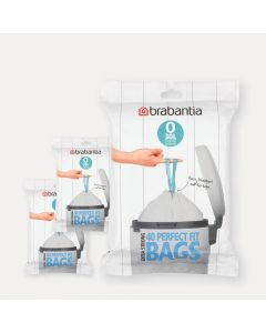 Sacs PerfectFit Pour Bo & FlatBack+, Code O (30 litres), 3 distributeurs, 120 sacs