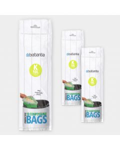 Compostable PerfectFit Bags Code K (10 liter), 3 rolls of 10 bags