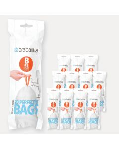 PerfectFit Bags Code B (5 litre), 12 rolls of 20 bags