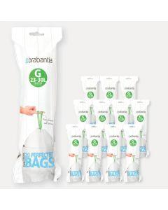 PerfectFit vuilniszakken Code G (23-30 liter), 12 rollen met 20 zakken
