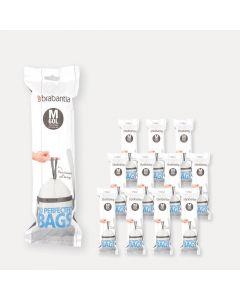 Sacs PerfectFit Code M (60 litres), 12 rouleaux de 10 sacs