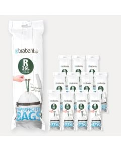 PerfectFit Bags For Bo, Code R (36 litre), 12 rolls of 10 bags