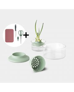 Regrow-Kit Set Inkl. Kräuterschere, Schneidebrett und Messer