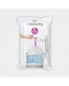 Sacs PerfectFit Code C (10-12 litres), Distributeur, 40 sacs