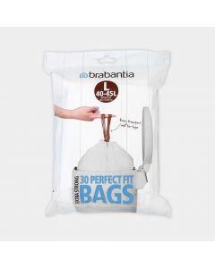 Sacs PerfectFit Pour FlatBack+, Code L (40-45 litres), Distributeur, 30 sacs