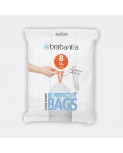 PerfectFit Bags Code B (5 litre), Dispenser Pack, 60 Bags