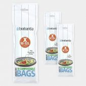 Compostable PerfectFit Bags For Bo & newIcon, Code X (10-12 liter), 3 rolls of 10 bags