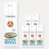 Compostable PerfectFit Bags For Bo & newIcon, Code X (10-12 liter), 6 rolls of 10 bags