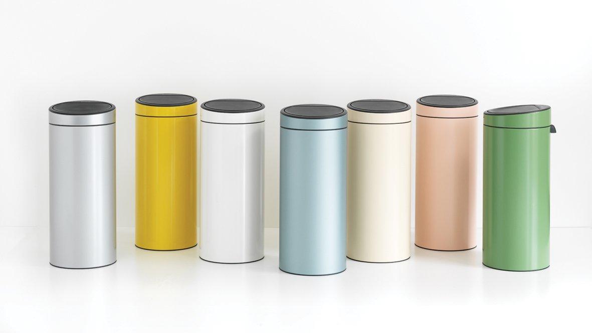touch bin new, 30 litres, seau intérieur plastique - clay pink