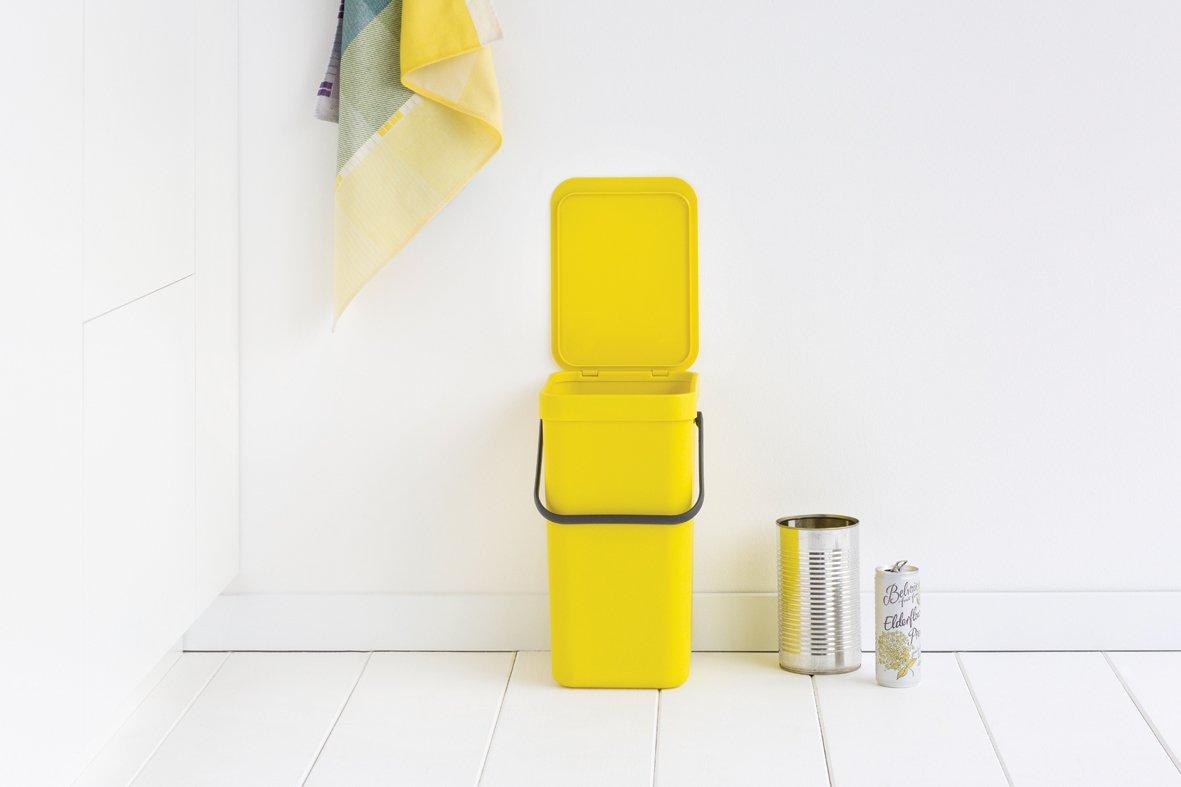 Sort Amp Go Afvalemmer 12 Liter Yellow Brabantia