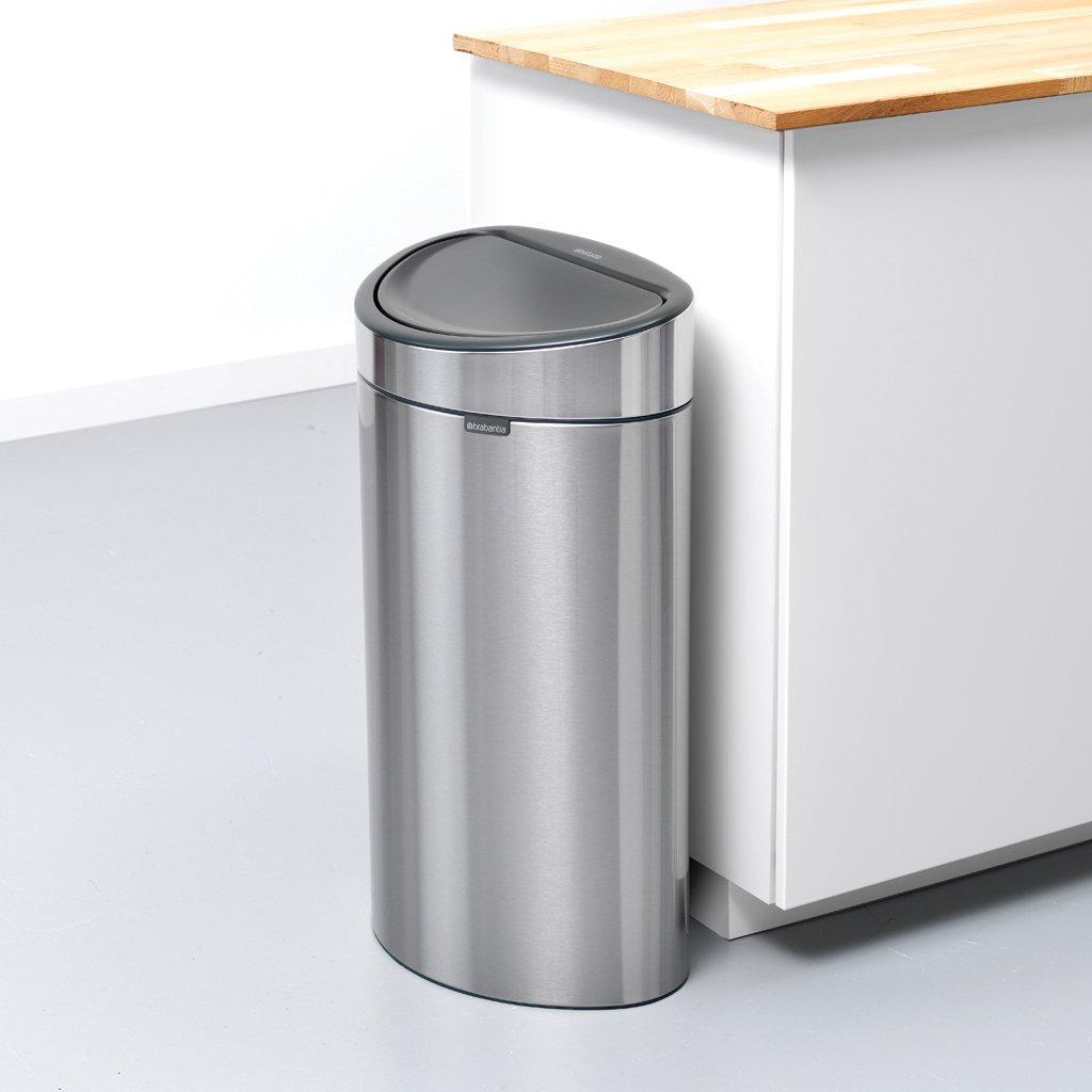 Brabantia Vuilnisbak 40 Liter.Touch Bin New 40 Liter Matt Steel Fingerprint Proof