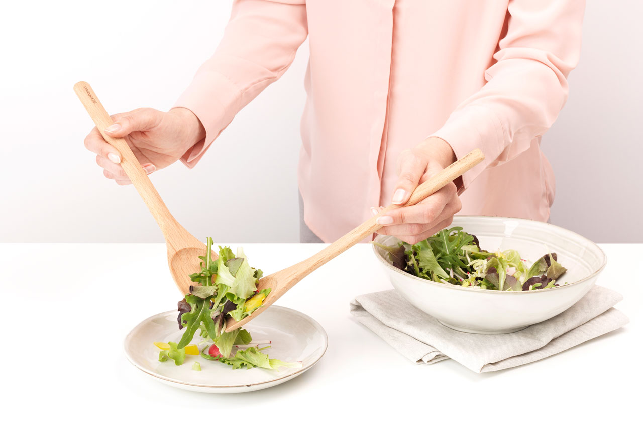 Wooden Salad Servers Set Of 2 Profile Brabantia