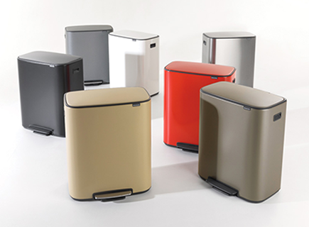 Brabantia introduces Bo Pedal Bin 60L and 2x30L